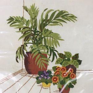 Sunset Stitchery Kit Vintage Indoor Palm Garden